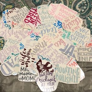 Grab Bag of Assorted Mug/Wine Glass Vinyl Decals